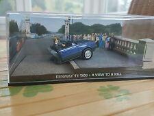 Renault 11 (Sondermodell), blaumet., James Bond 007,-1/43- in Modellautovitrine