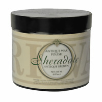 Briwax Sheradale Brown Wax Antique Polish 8 oz Jar.