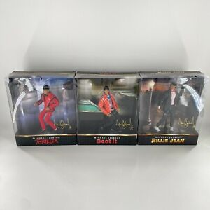 Complete Set Michael Jackson Playmates Figure Dolls Beat It Thriller Billie Jean