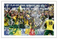 NORWICH CITY 2015 PLAY OFF FINAL WINNERS SQUAD SIGNED PHOTO PRINT AUTOGRAPH