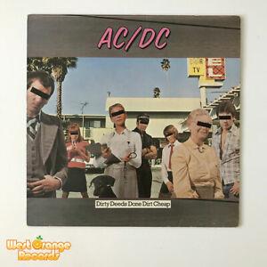 AC/DC, Dirty Deeds Done Dirt Cheap, Atlantic UK vinyl LP,  K 50323  EX+/EX+