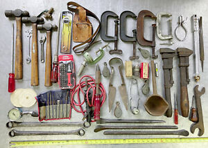 large vtg tool lot MILLERS FALLS HAMMERS coes wrench STANLEY SHEATH mechanics