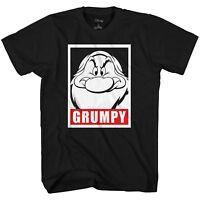 Seven Dwarves Grumpy Mad Disney World Disneyland Adult Men Tee Graphic T-shirt