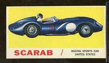 1961 Topps Sports Cars #29 Scarab Exmt (Anm1)