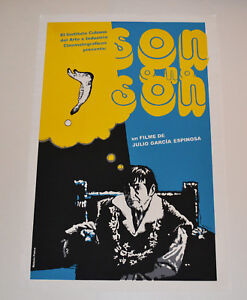 Cuban original SILKSCREEN movie poster.Handmade art.To be or not.Nelson Ponce.
