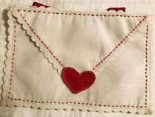 NWOT Pottery Barn Kids VALENTINE CARD FELT Fabric HEART Envelope Chair Backer ❤️