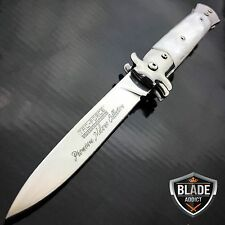 "9"" Italian Milano Stiletto Tactical Spring Assisted Pocket OPEN Knife TAC FORCE"
