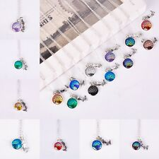 Mermaid Fish Scale Pendant Rainbow Holographic Sequins Charm Long Chain Necklace
