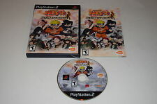 Naruto Ultimate Ninja Sony Playstation 2 PS2 Video Game Complete