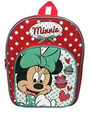 Disney Minnie Mouse rojo y blanco con manchas mochila