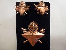 Vintage RENOIR Matisse Copper  Brooch,  CLIP  Earrings Set   FABULOUS  KNIGHTS