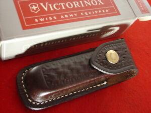 Victorinox Swiss Army Switzerland Factory 33201 Leather knife Sheath MIB