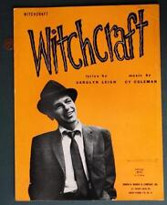 "1957 Frank Sinatra CLASSIC ""Witchcraft"" song sheet music-VINTAGE Old Blue Eyes!"
