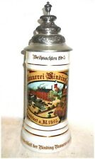 Binding Frankfurt Yearly XMAS Edition lidded Porcelain German Beer Stein