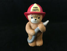 Lucy & Me Fire Dept Fireman Bear With Hose Lucy Rigg Enesco 1984