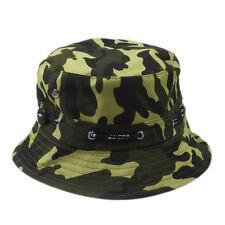 Unisex Bucket Hat Boonie Flat Hunting Fishing Outdoor Beach Cap Women Men Sunhat