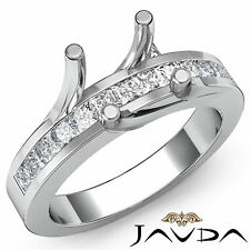 Princess Diamond Bridal Wedding Ring Platinum 950 Prong Set Semi Mount 0.5Ct