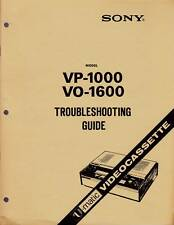 SONY TROUBLESHOOTING GUIDE for a VP-1000  COLOR VIDEOCASSETTE