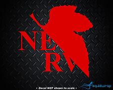 """EVANGELION NERV LOGO """"RED"""" car window sticker decal ANIME"""