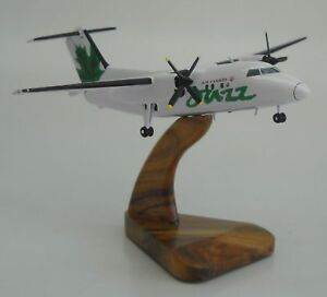 Dash 8 Air Canada Jazz Bombardier Airplane Desk Wood Model Big New