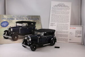Danbury Mint Limited - 1931 Ford Model A Phaeton 1/24 Diecast - Lombard Blue