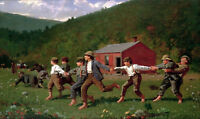 Snap the Whip Painting by Winslow Homer Art Reproduction