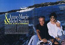 Coupure de presse Clipping 2000 Michel sardou & Anne-Marie  (8 pages)