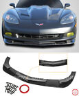ZR1 Extended Style Front Lip For 05-13 Corvette C6 BASE Plastic BLACK Splitter  for sale