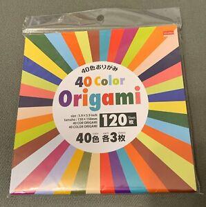 "NIP Daiso 40 Multi Color Origami Paper 120 Sheets, 40 Colors Craft 5.9"" x 5.9"""