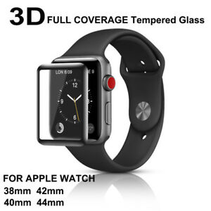 3D Full COVER Tempered Glass Screen Protector For iWatch Apple Watch 38/40/42/44