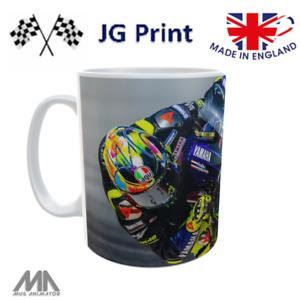 Valentino Rossi inspired motorbike Moto GP mug design