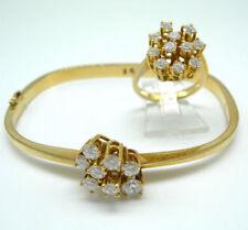 Natürliche Echtschmuck-Armbänder im Armreif-Stil mit Diamant
