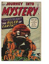 JOURNEY INTO MYSTERY #81 VG- MARVEL COMICS 1962 JACK KIRBY & DICK AYERS ART