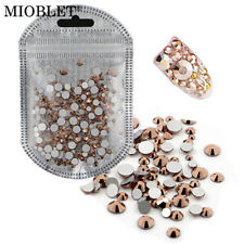 NEW Mixed Size ROSE GOLD Rhinestone Decoration Nail Art Crystal Gem UK