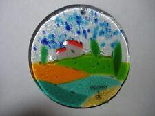 Italian fused glass Vetro e Ceramica del Borro Countryside Christmas ornament