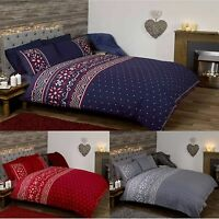 Duvet Quilt Cover Bedding Set Scandinavian Style Quilt Bed Cover Hearts Dots