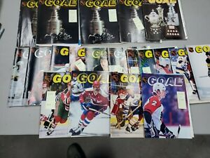 Lot of (20) 1970's & 1980's NHL Washington Capitals Game Program/ Goal Magazine