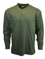 Work n Sport Mens Henley Long Sleeve Shirt Size XL Button Up Crew Neck Top NEW