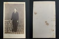 Jeune homme à la canne Vintage albumen print CDV.Risorgimento 1865_1875 / Albu