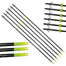 "6PCS Hunting Bow fishing Arrows Archery Bowfishing Slingbow 34"" Fiberglass Point"