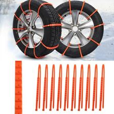 10pcs Universal 175-295mm Car Truck Snow Anti-slip Wheel Tire Chains Accessories