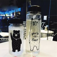 Portable Clear My Bottle Sport Plastic Fruit Water Cup Travel Bottle 350/500ML