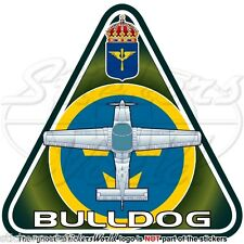 BAe BULLDOG (Beagle-Scottish Aviation) SWEDEN Swedish AirForce SK-61 Sticker