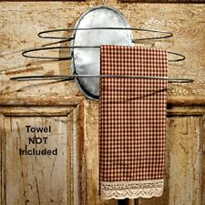 New Retro Antique Vintage Style Wire Hand Towel Holder Hanger Bar Wall Rack
