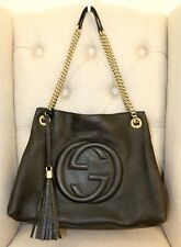 GUCCI Soho Chain Black Leather Shoulder Bag Preowned