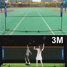 3M Portable Training Beach Volleyball Badminton Tennis net with carrying bag