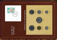 Coin Sets of All Nations Philippines 1985-1989 UNC 1 Piso 1988 2 Piso 1985