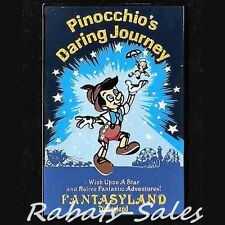 Pinocchio & Jiminy - Daring Journey Poster Disney Pin Dlr - Le1500 New On Card