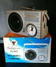 Tulus SI-862 FM AM TV SW1-8. 11 Band Radio. Alarm Clock. Earphone Jack.