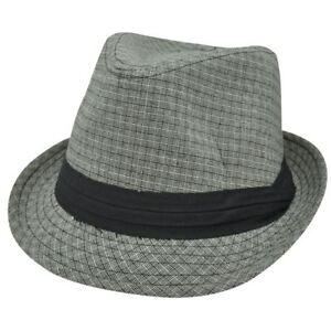 Gray Black Weave Pattern Ribbon Large XLarge Fedora Trilby Stetson Homburg Hat